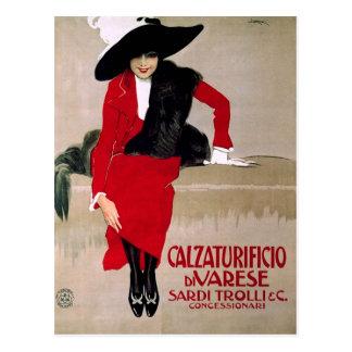 Vintage Italian Shoe Factory Advertisement Postcard