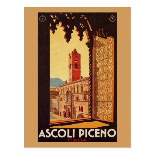 Vintage Italian travel ad Ascoli Piceno Postcard