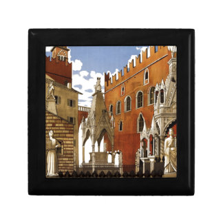 Vintage Italian Travel Poster to Verona Gift Box
