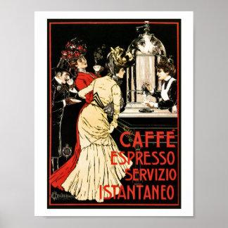 Vintage Italian Victorian coffee espresso ad Poster