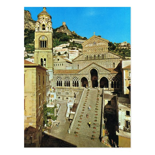 Vintage Italy, Amalfi Cathedral Postcard