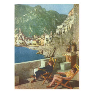 Vintage Italy,  Amalfi coast 1930s Postcard