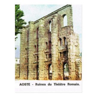 Vintage Italy,  Aosta, Ruins of Roman Theatre Postcard