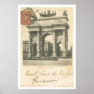 Vintage Italy, Arco della Pace, Milano Print
