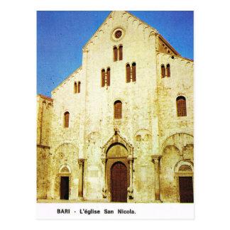 Vintage Italy, Bari, St Nicholas Church Postcard