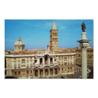 Vintage Italy, Church of S Maria Maggiore Rome Poster