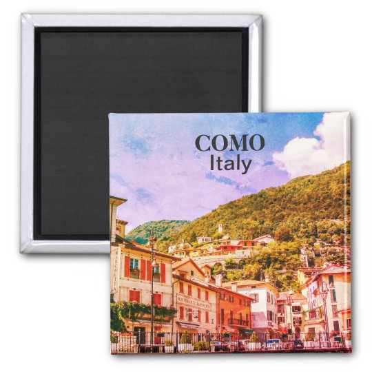 Vintage Italy Como Town Souvenir Magnet