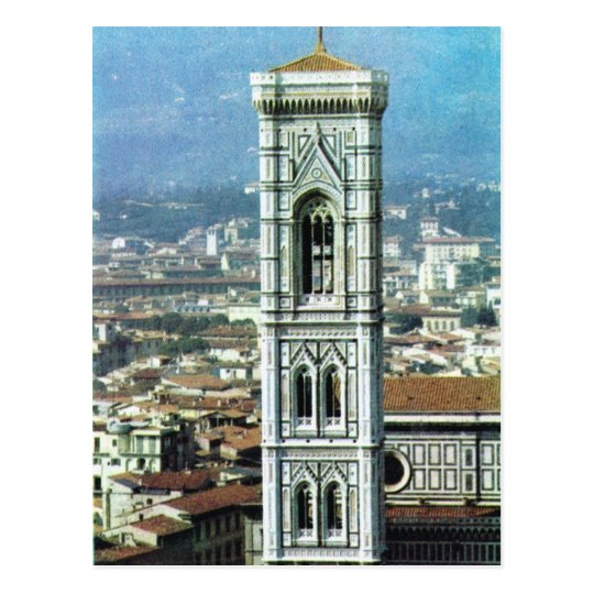 Vintage Italy, Firenze, Duomo, Giotto's belltower Postcard