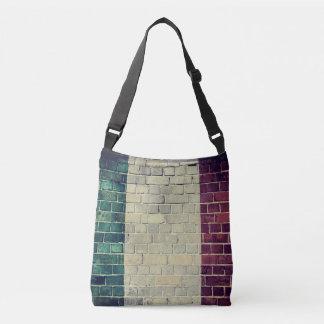 Vintage Italy flag on a brick wall Crossbody Bag