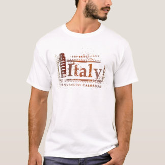 Vintage Italy Leaning Tower of Pisa Postage Seal T-Shirt