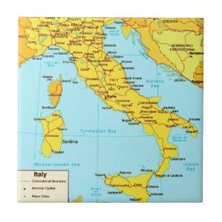 Vintage Italy Map Tile