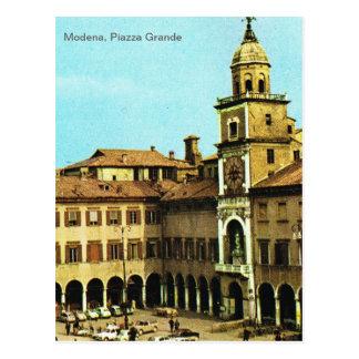 Vintage Italy, Modena, Piazza Grande Postcard