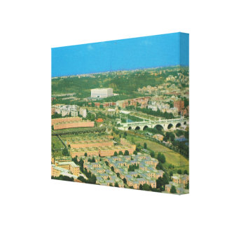 Vintage Italy, Rome, Olympic Village Canvas Print