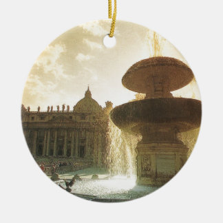 Vintage Italy, Rome, Vatican, St Peter's Christmas Ornament