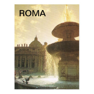 Vintage Italy, Rome, Vatican, St Peter's Postcard