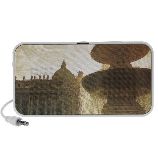 Vintage Italy, Rome, Vatican, St Peter's iPod Speakers