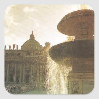 Vintage Italy, Rome, Vatican, St Peter's Square Sticker