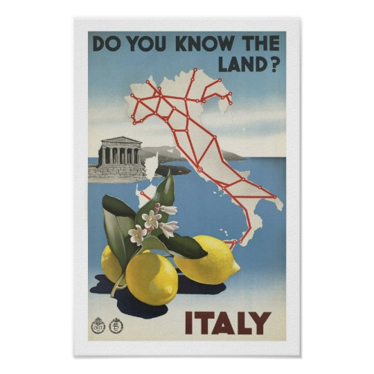 Vintage Italy Travel and Tourism Poster print