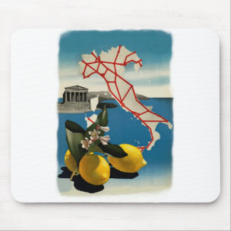 Vintage Italy Travel Mouse Pad