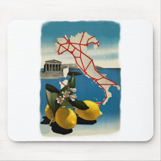 Vintage Italy Travel Mousepads