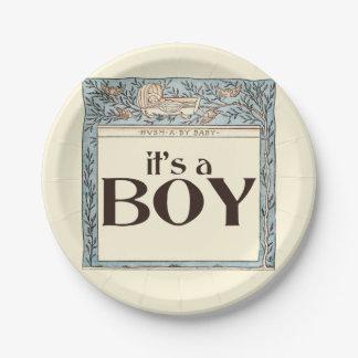 Vintage It's a BOY 7 Inch Paper Plate