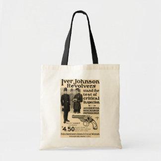 Vintage Iver Johnson Firearms Revolver Ad Tote Bag