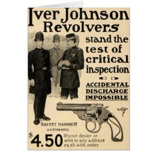 Vintage Iver Johnson Revolver Gun Ad Greeting Card
