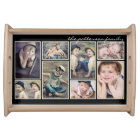 Vintage Ivory Framed Personalised Photo Collage Serving Tray