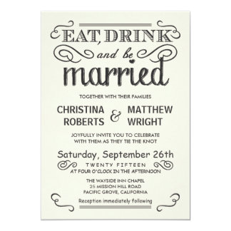 Vintage Ivory White Rustic Wedding Invitations