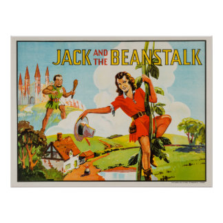 Vintage Jack and the Beanstalk Poster
