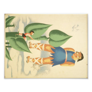 Vintage Jack and the Beanstalk WPA Poster Art Photo