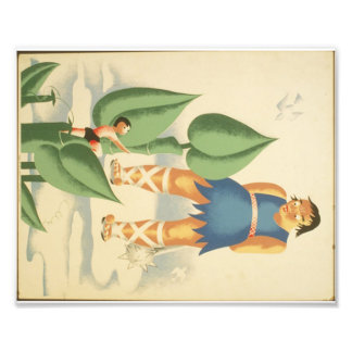 Vintage Jack and the Beanstalk WPA Poster Photo