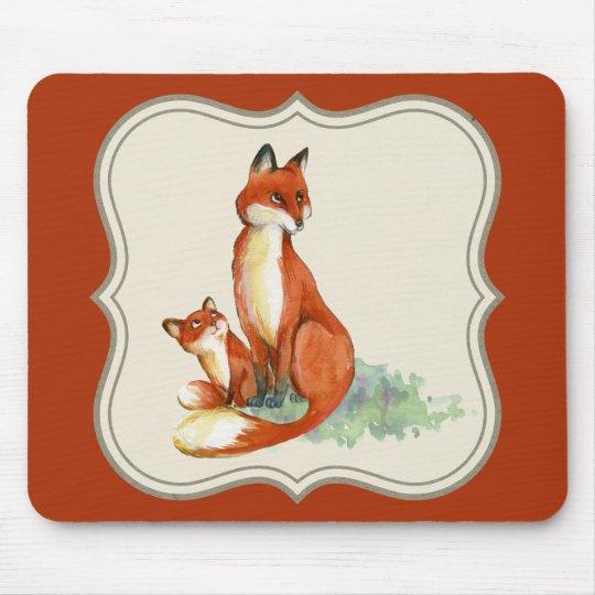 Vintage jackal illustration mouthpade, orange mouse mat