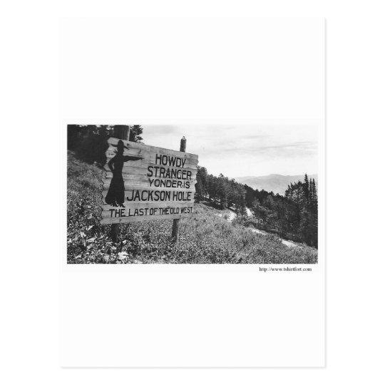 Vintage Jackson Hole Postcard
