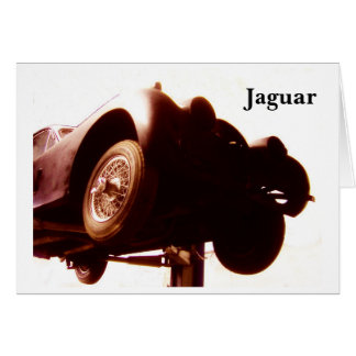 Vintage Jaguar Automobile Card