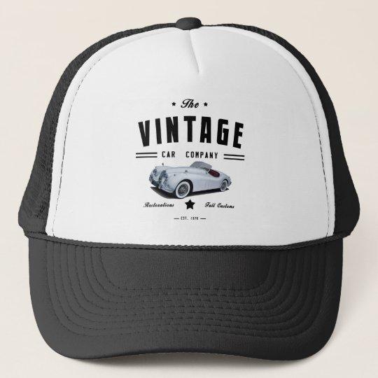 3e2681b02d4c4 Vintage Jaguar Car Garage Trucker Hat