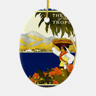 vintage-jamaica-travel-poster. christmas ornament