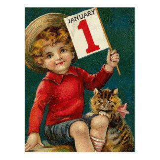 Vintage January 1st Postcard