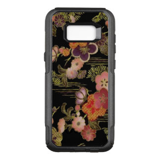 Vintage Japan Black Floral OtterBox Commuter Samsung Galaxy S8+ Case