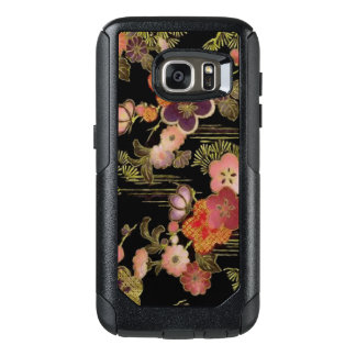 Vintage Japan Black Floral OtterBox Samsung Galaxy S7 Case