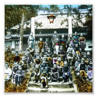 Vintage Japan Grade School Class Picture Kids Photograph