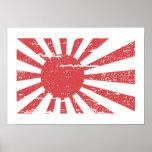 Vintage Japan Navy Flag Poster