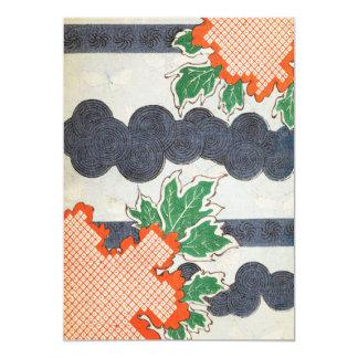 Vintage Japanese Art 13 Cm X 18 Cm Invitation Card