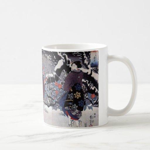 Vintage Japanese Art Coffee Mugs
