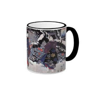 Vintage Japanese Art Ringer Mug