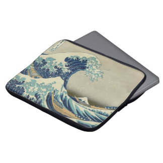 Vintage Japanese Art, The Great Wave by Hokusai Laptop Sleeve