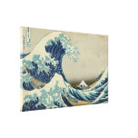Vintage Japanese Art, The Great Wave by Hokusai Stretched Canvas Prints