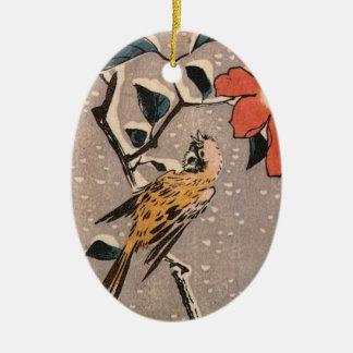 Vintage Japanese Bird Ornament