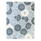 Vintage Japanese Chrysanthemum Blue and White Postcard