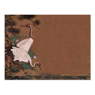Vintage Japanese Cranes Wedding Invitations Post Cards
